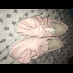 BRAND NEW! Qupid Pink Bow Sneakers